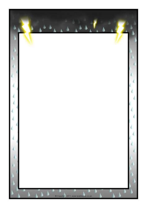 Weather-Themed A4 Page Borders – Portrait (SB6477