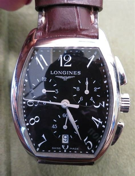 LONGINES Evidenza Men's Watch Chronograph Date Leather