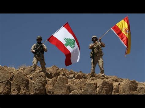 Lebanon: Army raises Spanish flag after victory on Islamic