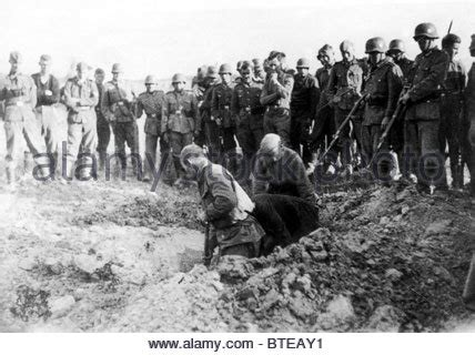 Soviet prisoners of war in a German collection camp on the