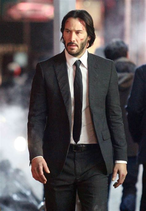 Keanu Reeves on the set of John Wick 2 in New York|Lainey