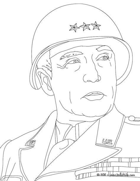 General george patton coloring pages - Hellokids