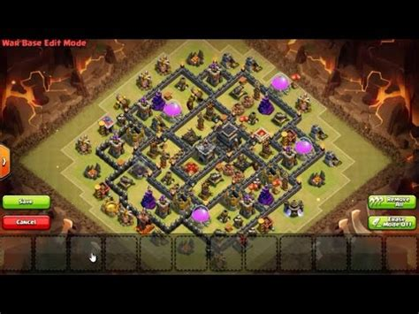 COC Townhall Base - Best TH9 Base Design Clans war Anti
