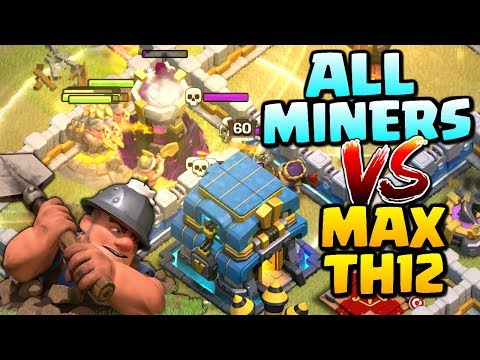 Th 13 Awesome Attack miner &Hog Rider Clash of Clans | CoC