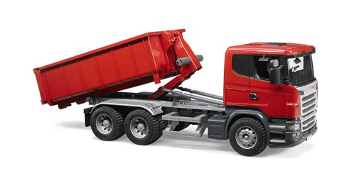Scania R-Serie LKW mit Abrollcontainer - Bruder Scania