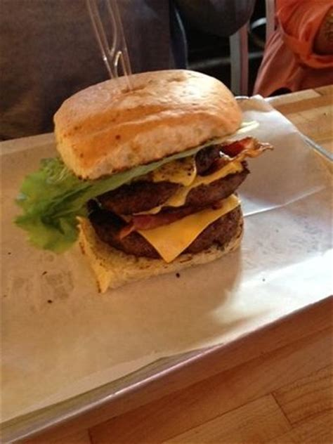 Who Dat Burger - triple meat! - Picture of Fat Cow Burgers