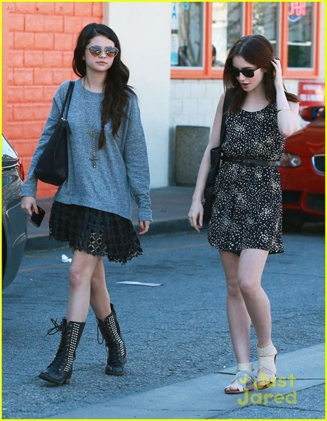 Lily Collins and Selena Gomez spotted in California