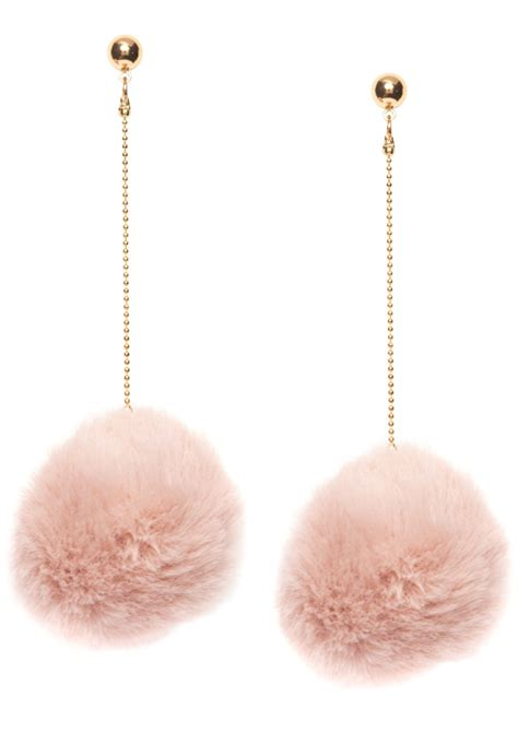 Hellrosa Pom Pom Ohrringe - Happiness Boutique