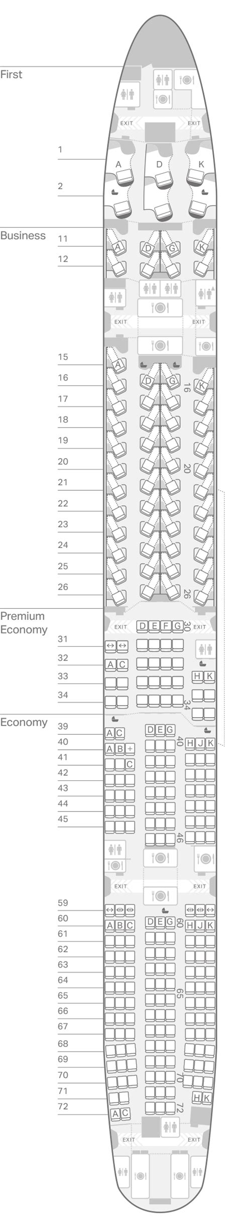 Cathay Pacific Airplane Seating Chart 77w   www