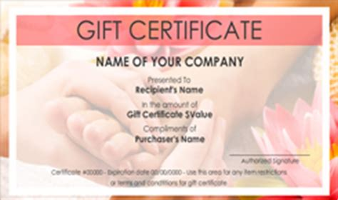 Beauty and Nail Salon Gift Certificate Templates | Easy to