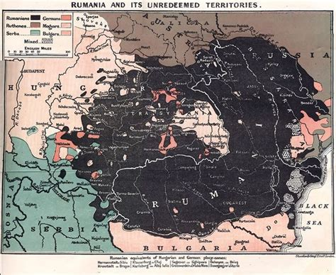 A 1917 British map showing territories with majority