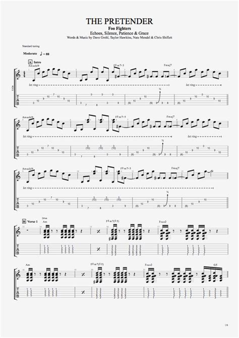 The Pretender by Foo Fighters - Full Score Guitar Pro Tab