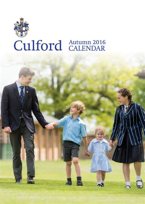Culford Autumn Calendar 2016 by Culford School - Issuu