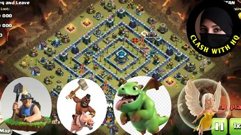 Th 13 Destroyed with Miner Hog Rider Attack Clash of Clans