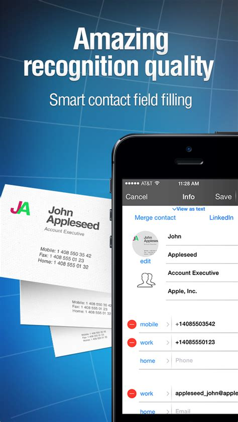 Business Card Reader - iPhone - English - Evernote App Center