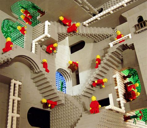 Escher's Relativity in Lego by Andrew Lipson   This great