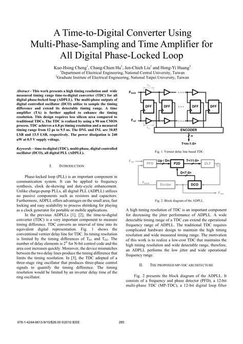 (PDF) A time-to-digital converter using multi-phase