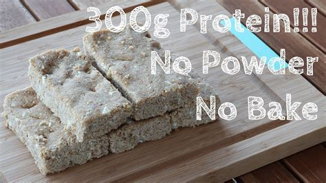 Homemade Protein Bar Without Powder! (For Bulking) - YouTube
