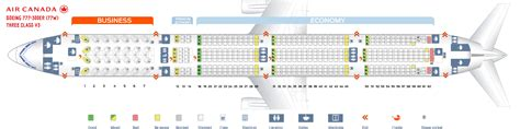 Seat map Boeing 777-300 Air Canada