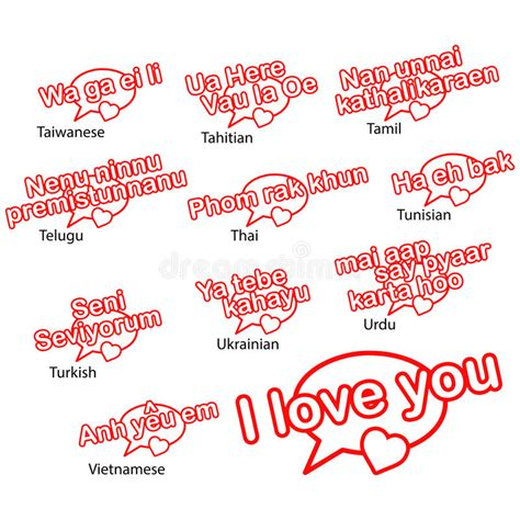 Word I Love You In Different Languages, Love Concept Stock