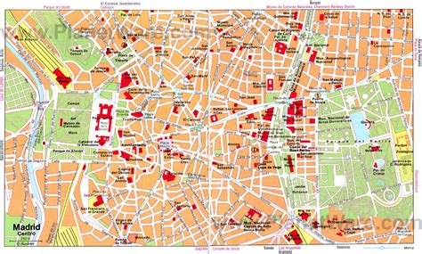 Map of Madrid Tourist Attractions   PlanetWare   Madrid