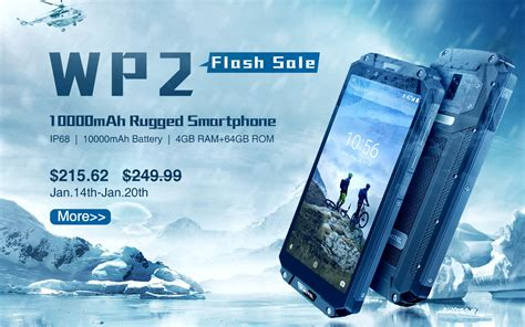 10000mAh Rugged Phone OUKITEL WP2 in Winter Sale at just
