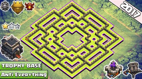 BEST!! Clash of Clans Town Hall 9/TH9 Trophy Base With
