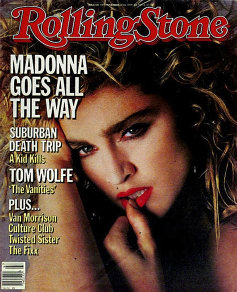 Madonna's First Rolling Stone Cover (1984) | Celebrating
