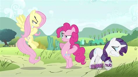 Fluttershy makes Pinkie and Rarity cry - YouTube