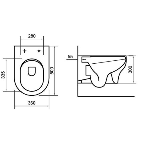 Orabella Clear Rimless Grey Matt Wall Hung Toilet with