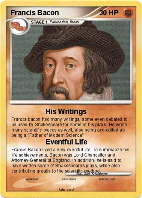 Pokémon Francis Bacon 4 4 - His Writings - My Pokemon Card