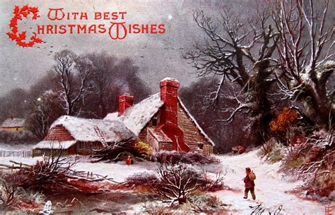 Christmas Pastoral | Evoking Currier & Ives, many early