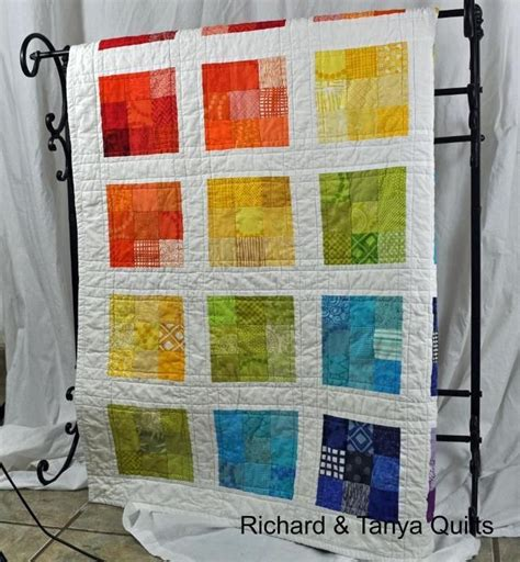 Rainbow Nine Patch | Craftsy | Quiltmuster, Quiltblöcke