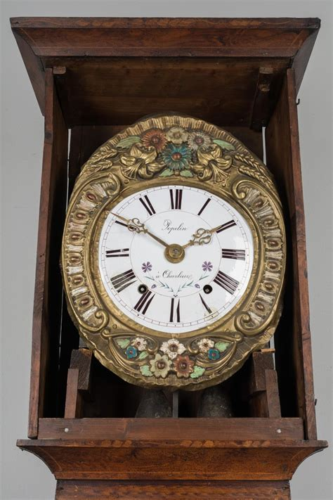 19th Century French Comtoise Grandfather Clock with