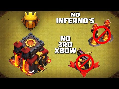 Clash of Clans :: TH9 Trophy Pushing Base - YouTube